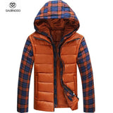 Men's Thermal Hooded Plaid Jacket - TrendSettingFashions