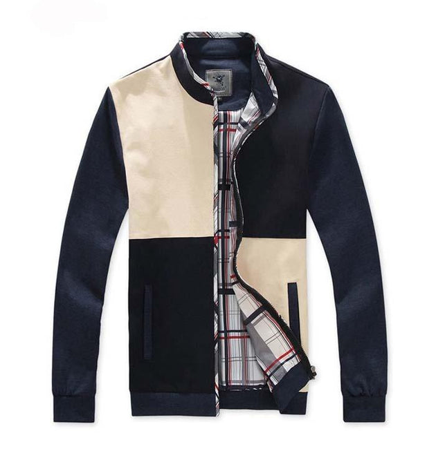 Men's Patchwork Style Jacket - TrendSettingFashions