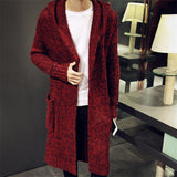 Men's Long Cardigan Sweater - TrendSettingFashions   - 3