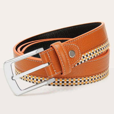 Men's Metal Plated Designer Belt - TrendSettingFashions