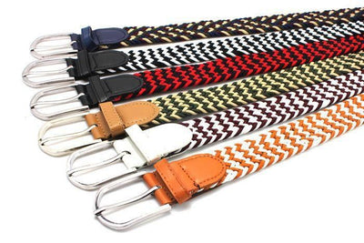 Men's Elastic Weave Belt In Multi Color Options - TrendSettingFashions
