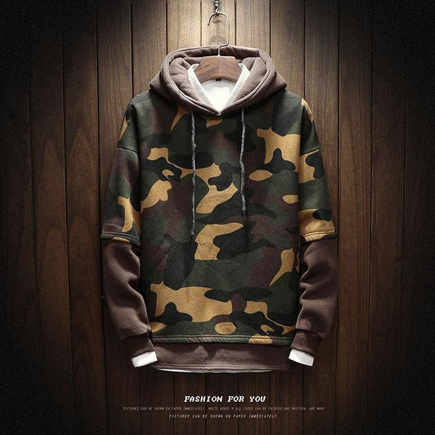 Men's Comfortable Camo Hoodie Up To 5XL - TrendSettingFashions