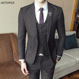 Men's 3 Piece Vintage Plaid Suit Up To XXL - TrendSettingFashions