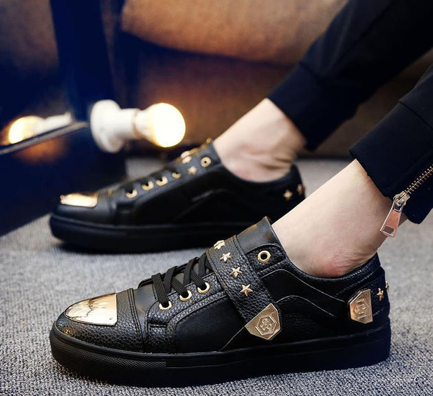 Men's Metal Sequin Designer Shoes - TrendSettingFashions