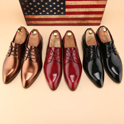 Men's Retro Gloss Rivet Fashion Dress Shoe - TrendSettingFashions   - 5
