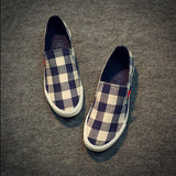 Low Top Casual Plaid Flats - TrendSettingFashions