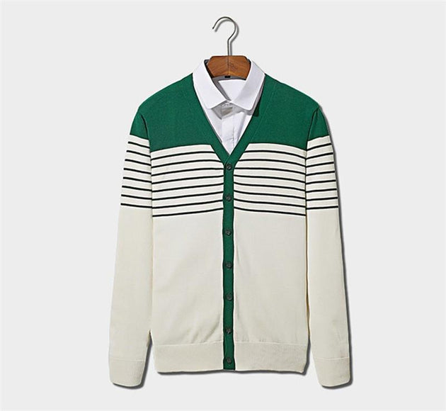 Men's Striped Casual Pullover - TrendSettingFashions