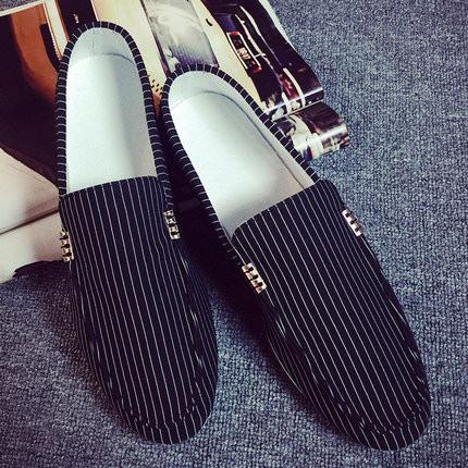 Men's Slip On Fashion Striped Loafers - TrendSettingFashions
