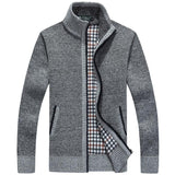Men's Thick Long Sleeve Zip Jacket - TrendSettingFashions