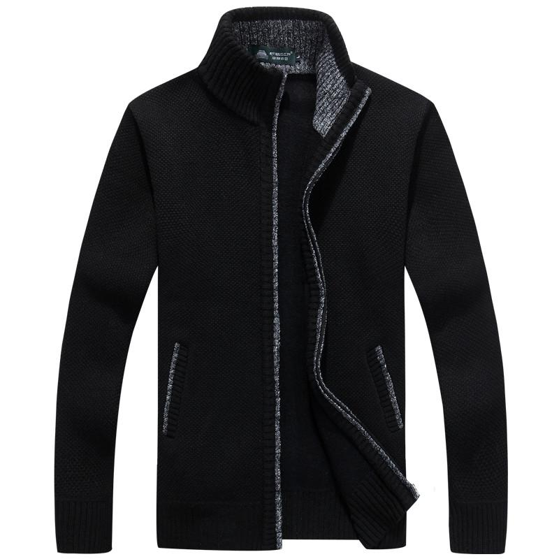 Men's Thick Long Sleeve Zip Jacket - TrendSettingFashions   - 4
