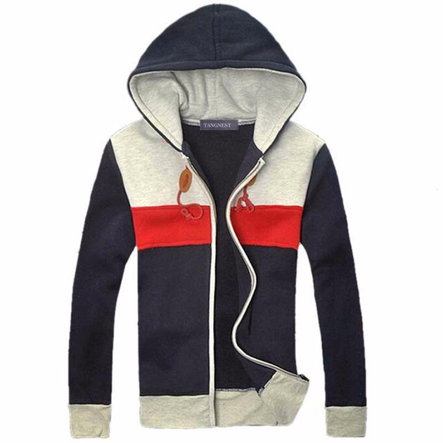 Men's Patchwork Hoodie - TrendSettingFashions