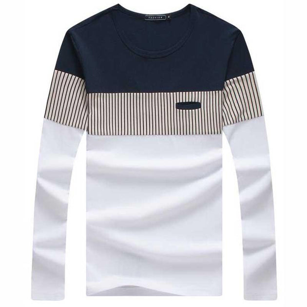 Men's Long Sleeve Fashion Tee - TrendSettingFashions   - 1