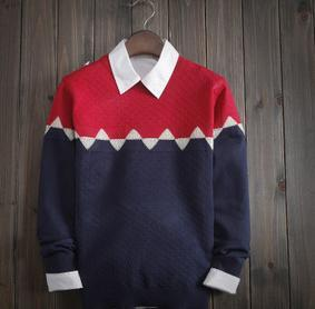Men's Geometry Color Matching Sweater - TrendSettingFashions