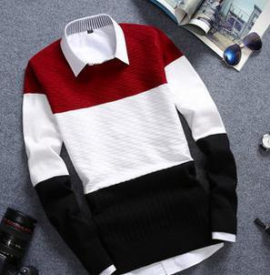 Men's Vintage Round Collar Sweater - TrendSettingFashions