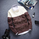 Men's 2 Tone Sweater - TrendSettingFashions