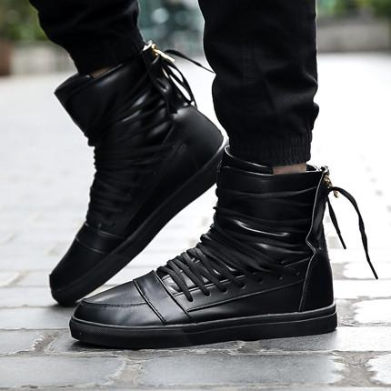 Men's High Top Lace Up Fashion Shoes - TrendSettingFashions