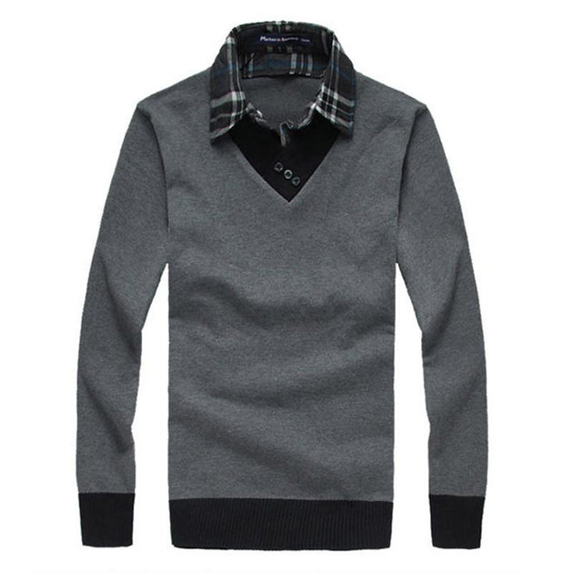 Men's V-Neck Dress Sweater - TrendSettingFashions