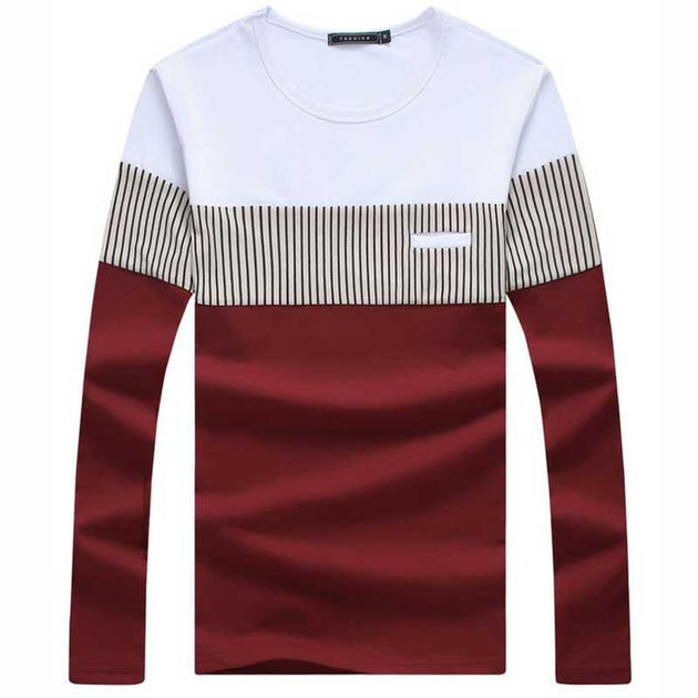 Men's Long Sleeve Fashion Tee - TrendSettingFashions   - 5