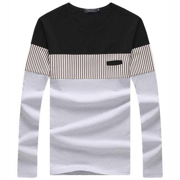 Men's Long Sleeve Fashion Tee - TrendSettingFashions   - 2