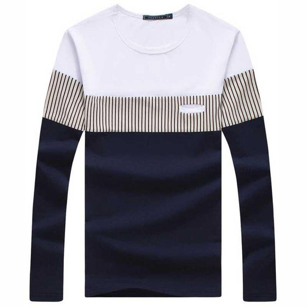 Men's Long Sleeve Fashion Tee - TrendSettingFashions   - 3