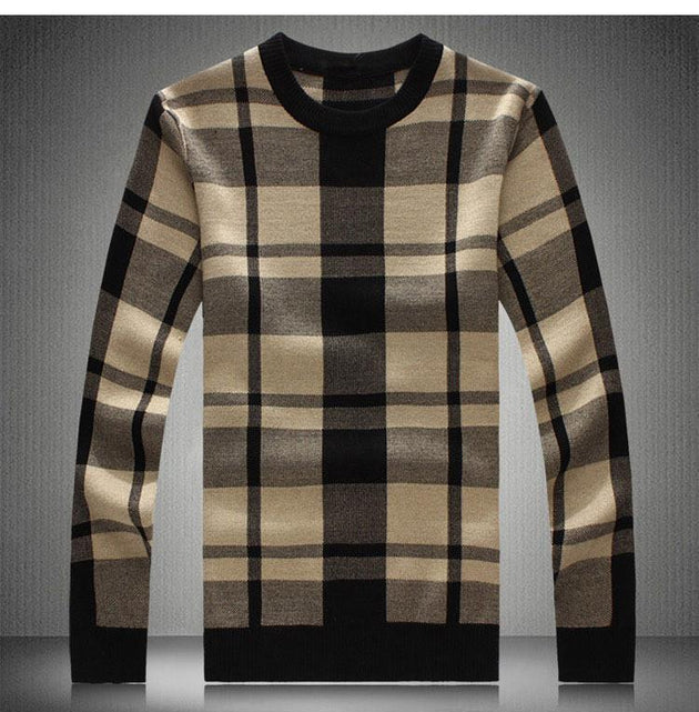 Men's Thick Plaid Pullover - TrendSettingFashions