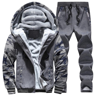 Men's Fleece Camo Tracksuit