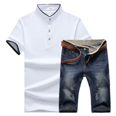 Men's Summer Denim Shorts Outfit Up To 5XL