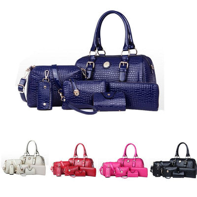 Women's 6 Bag Set, Huge VALUE With 5 Color Options - TrendSettingFashions