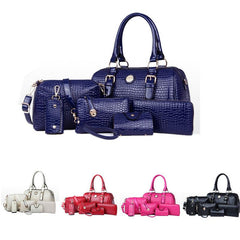 Women's 6 Bag Set, Huge VALUE With 5 Color Options - TrendSettingFashions   - 1