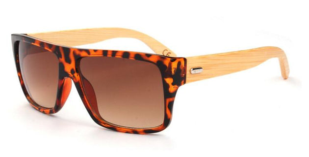Men's Rectangular Frame Bamboo Glasses In 7 Color Options - TrendSettingFashions