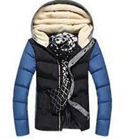 Men's Patchwork Thick Hooded Jacket In 4 Colors - TrendSettingFashions   - 2