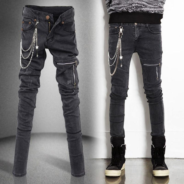 Chain Me Up Jeans - TrendSettingFashions