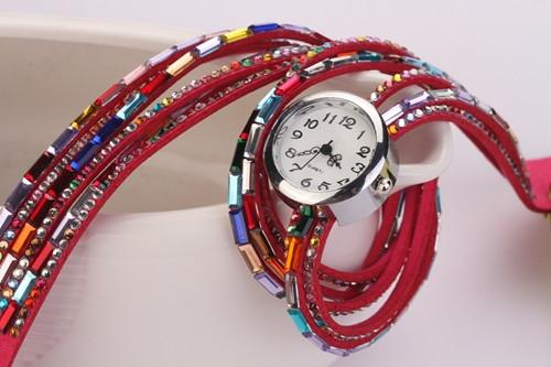 Women's Glass Jewel Watch With 9 Different Colors - TrendSettingFashions   - 6