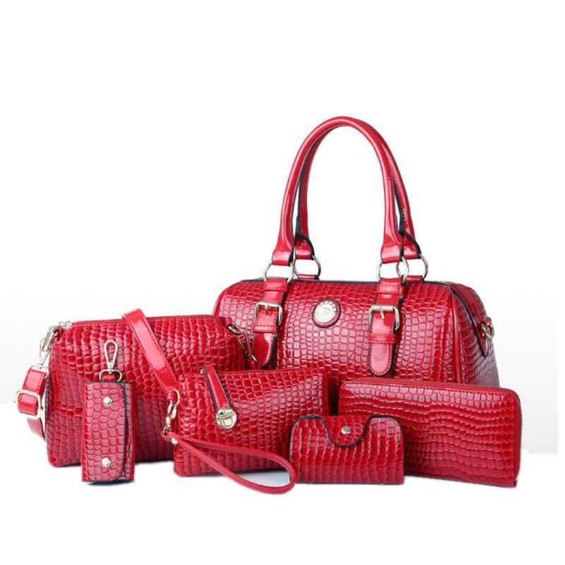 Women's 6 Bag Set, Huge VALUE With 5 Color Options - TrendSettingFashions   - 5