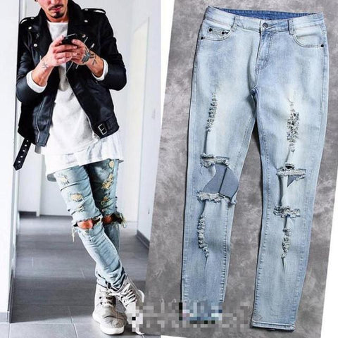 Denim Stretch Destroyed Fashion Jeans