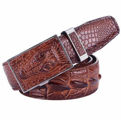 Men's Crocodile Design Automatic Buckle - TrendSettingFashions