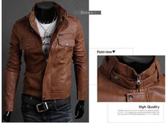 Men's Riders Leather Jacket In 3 Colors! - TrendSettingFashions   - 2