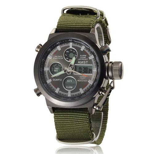 Men's Military Diver Style Watch - TrendSettingFashions