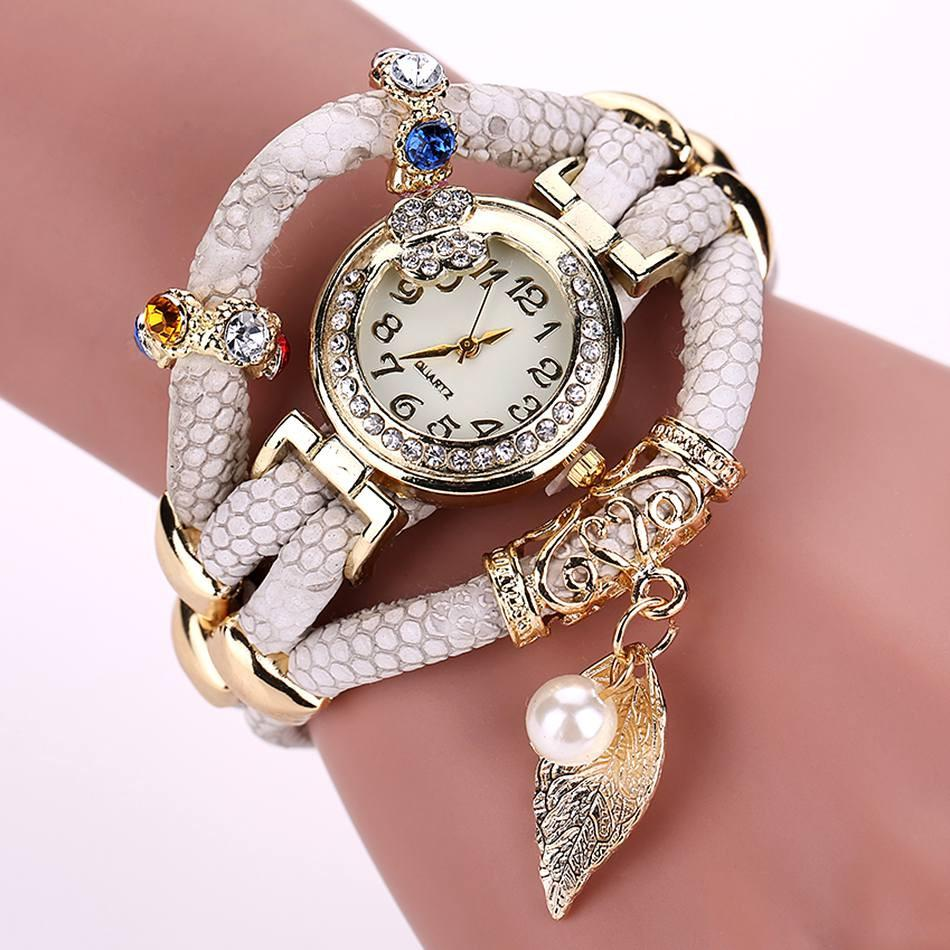 Women's Feather Wide Fashion Watch In 5 Colors! - TrendSettingFashions   - 1