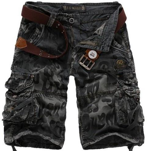 Men's Half Camouflage Military Style Shorts - TrendSettingFashions