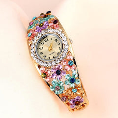 Women's Beautiful Glass Flower Inspired Watch In 5 Colors - TrendSettingFashions   - 3
