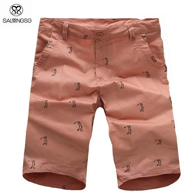 Men's Bermuda Style Solid Shorts - TrendSettingFashions