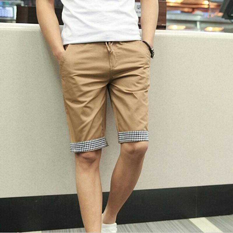 Men Summer Shorts Plaid Ruched - TrendSettingFashions   - 1