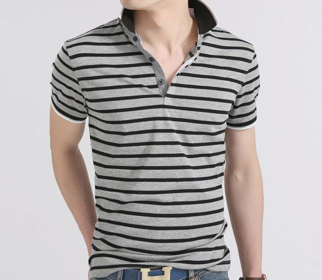 Men's Striped Summer Polo - TrendSettingFashions   - 3