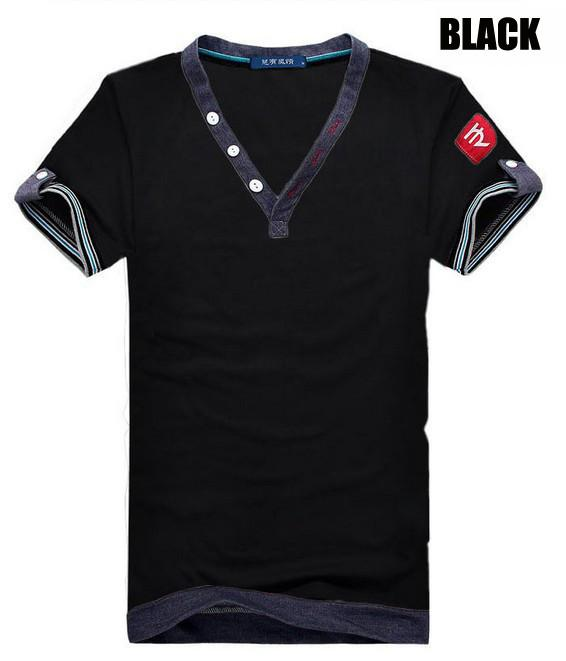 Men's 3 Button V-Neck Tee - TrendSettingFashions