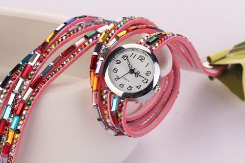 Women's Glass Jewel Watch With 9 Different Colors - TrendSettingFashions   - 2
