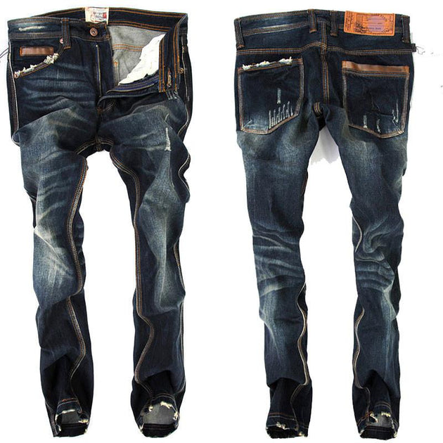 Men's Straight Fit Distressed Jeans - TrendSettingFashions