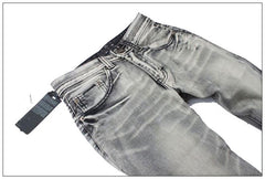 Men's Light Washed Grey Jeans - TrendSettingFashions   - 8