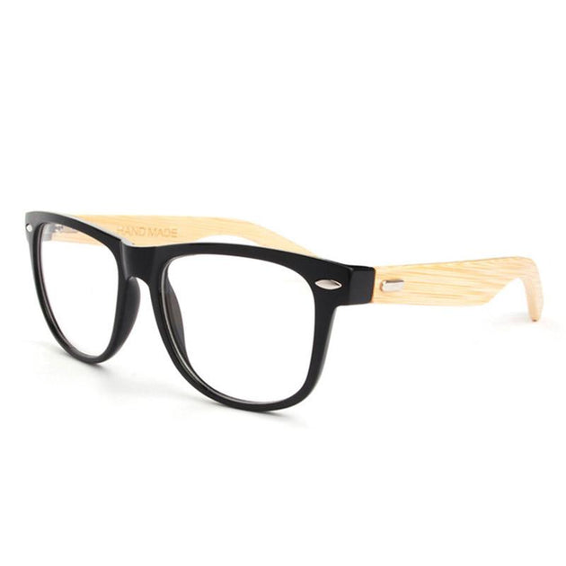 Vintage Bamboo Eyeglasses With Clear Lens In 3 Colors - TrendSettingFashions