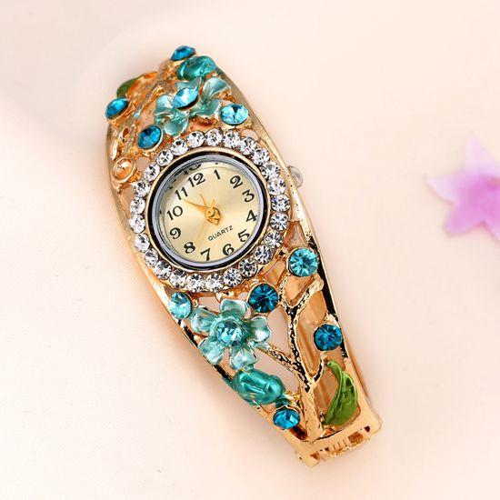 Women's Flower And Branch Glass Watch - TrendSettingFashions   - 5
